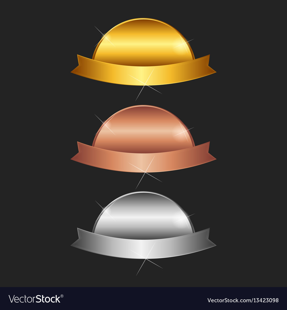 Blank stamps - gold platinum silver vector image