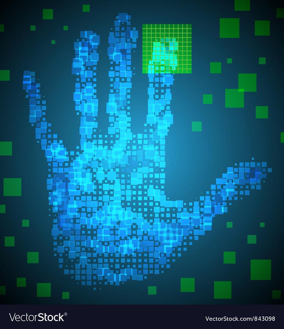 Enter Access Code vector image
