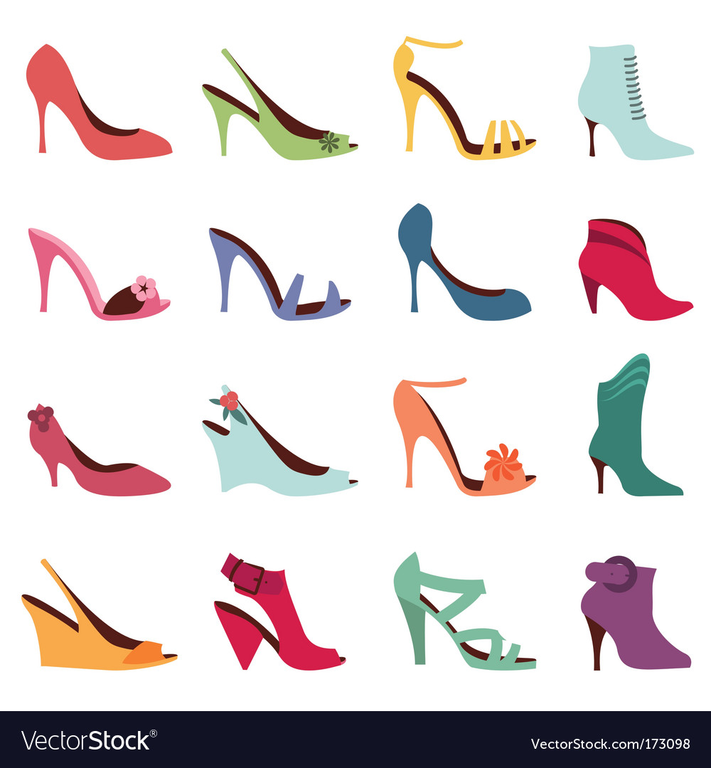 Fashion women shoes vector image