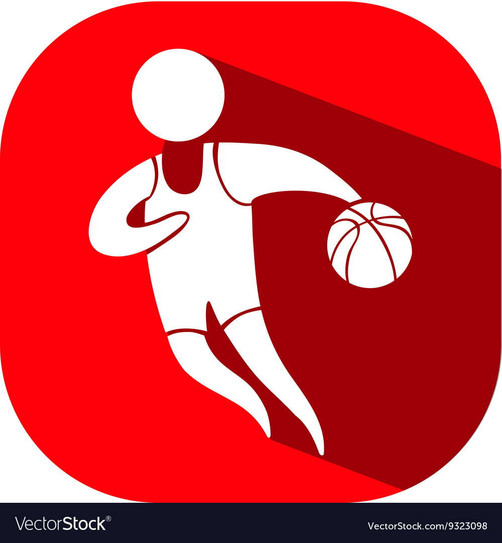 Sport icon design for basketball on red background sport icon design for basketball on red background vector image biocorpaavc Choice Image