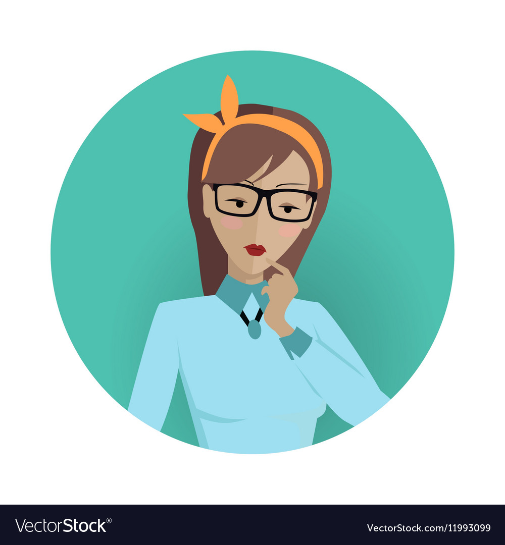 Userpic of a Business Lady Woman at Work Icon vector image