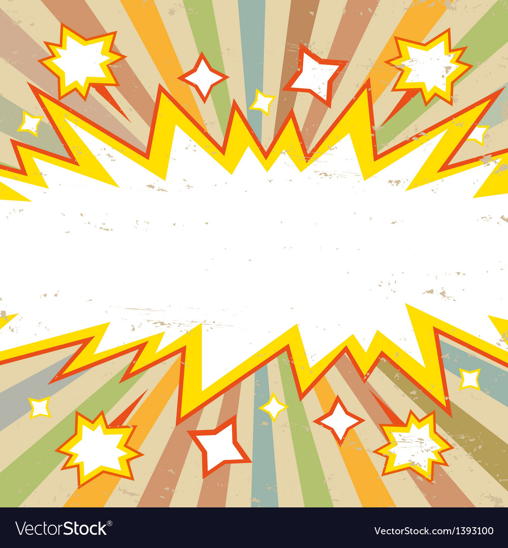 frame boom comic book explosion vector image