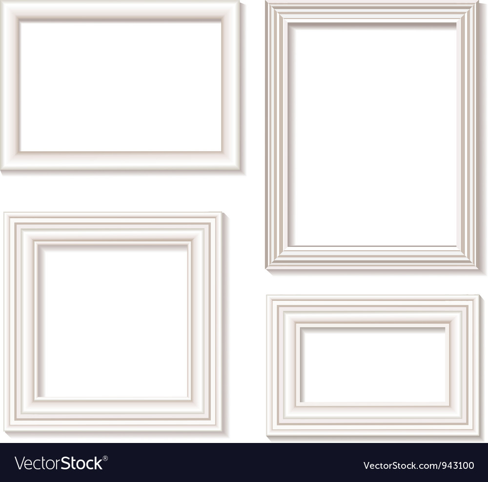White picture frames vector image