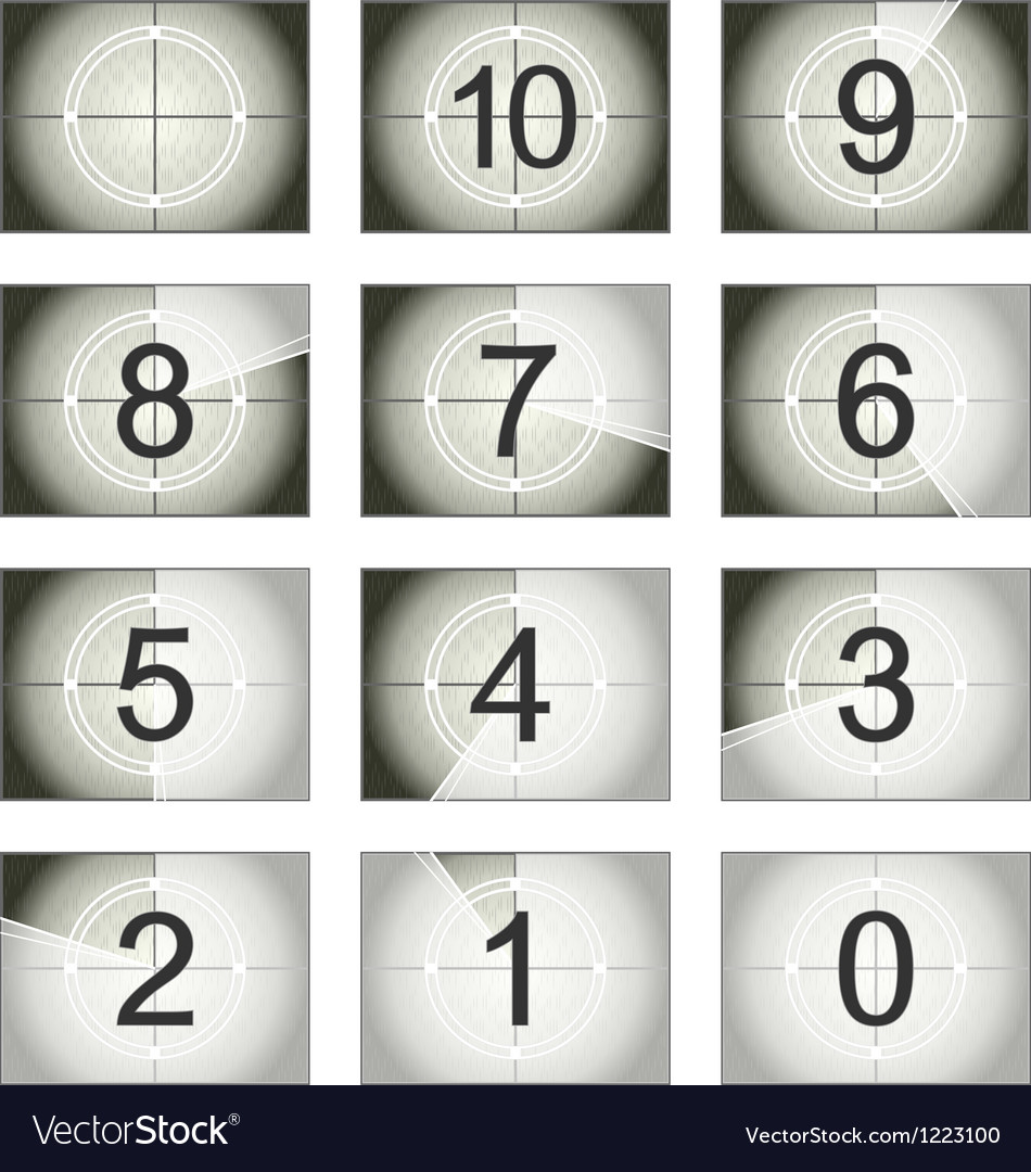 Screen countdown vector image