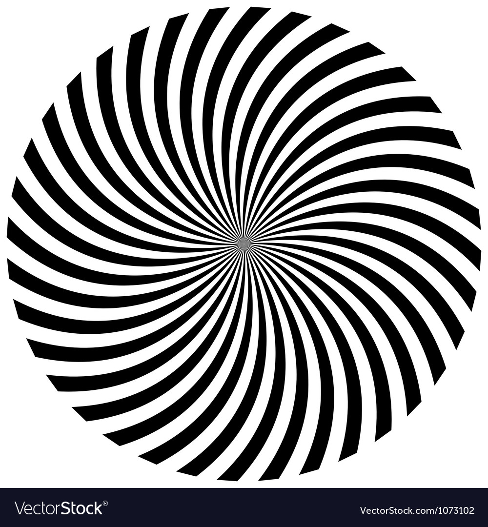 Abstract hypnotic background vector image
