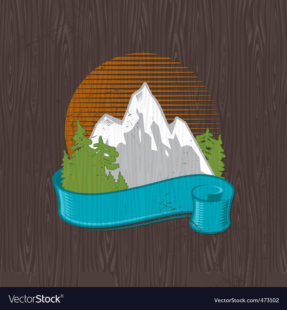 Landmarks emblem vector image