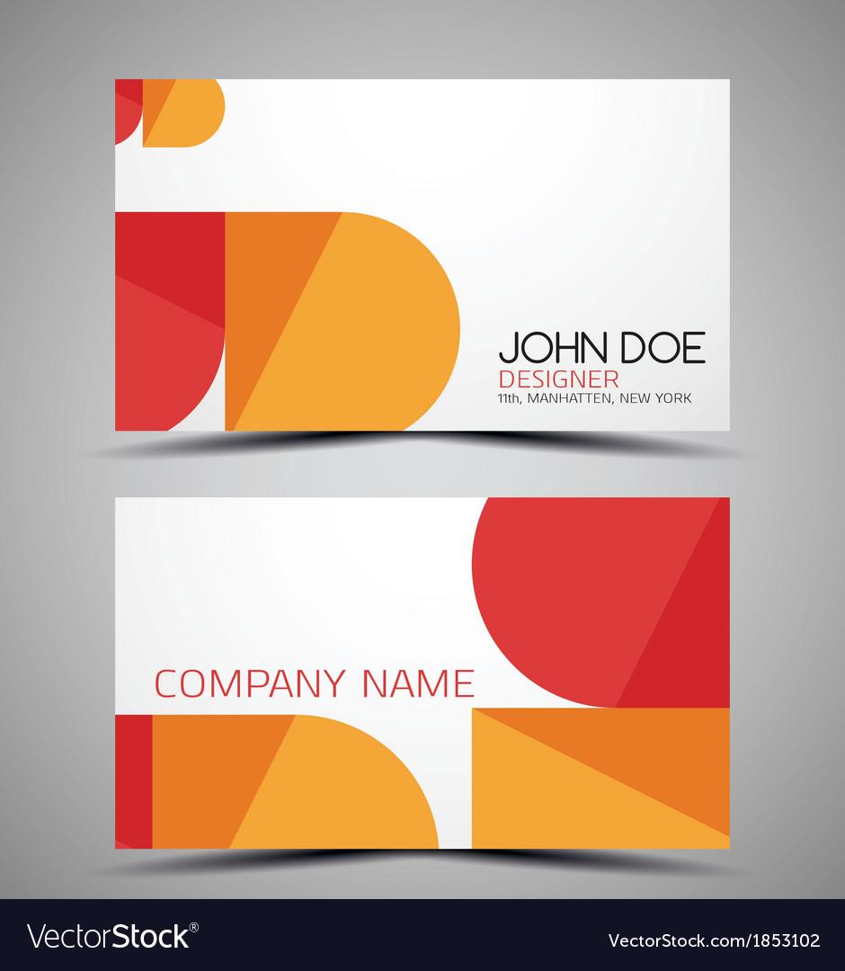 Cmyk business card design template royalty free vector image cmyk business card design template vector image magicingreecefo Images
