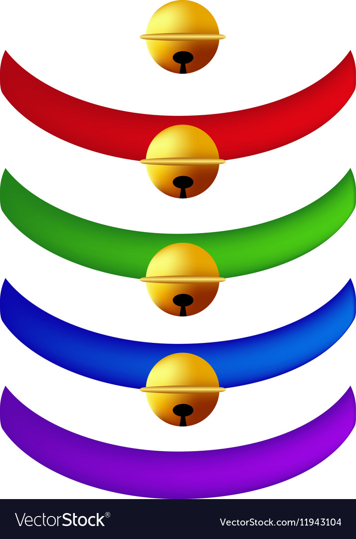 Pet Collar with Golden Ball vector image