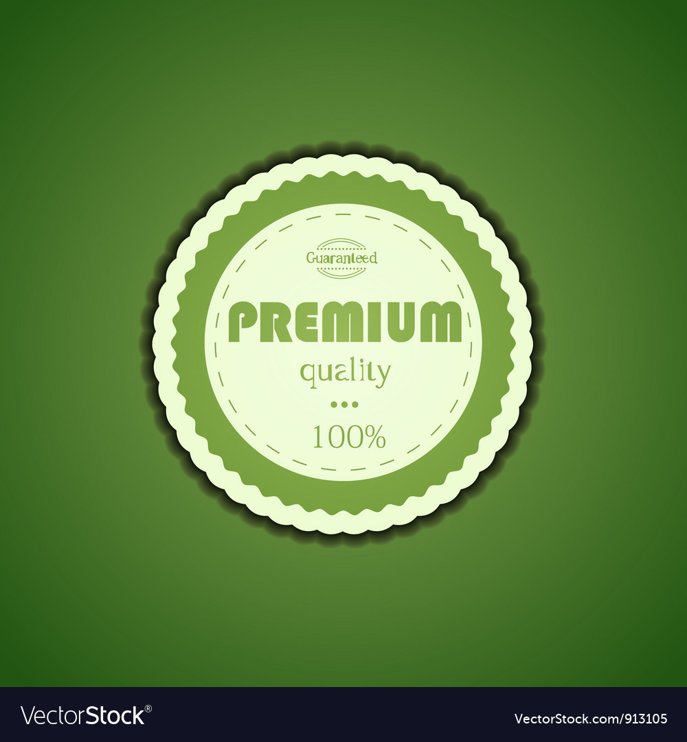Premium Quality Assurance Sticker vector image