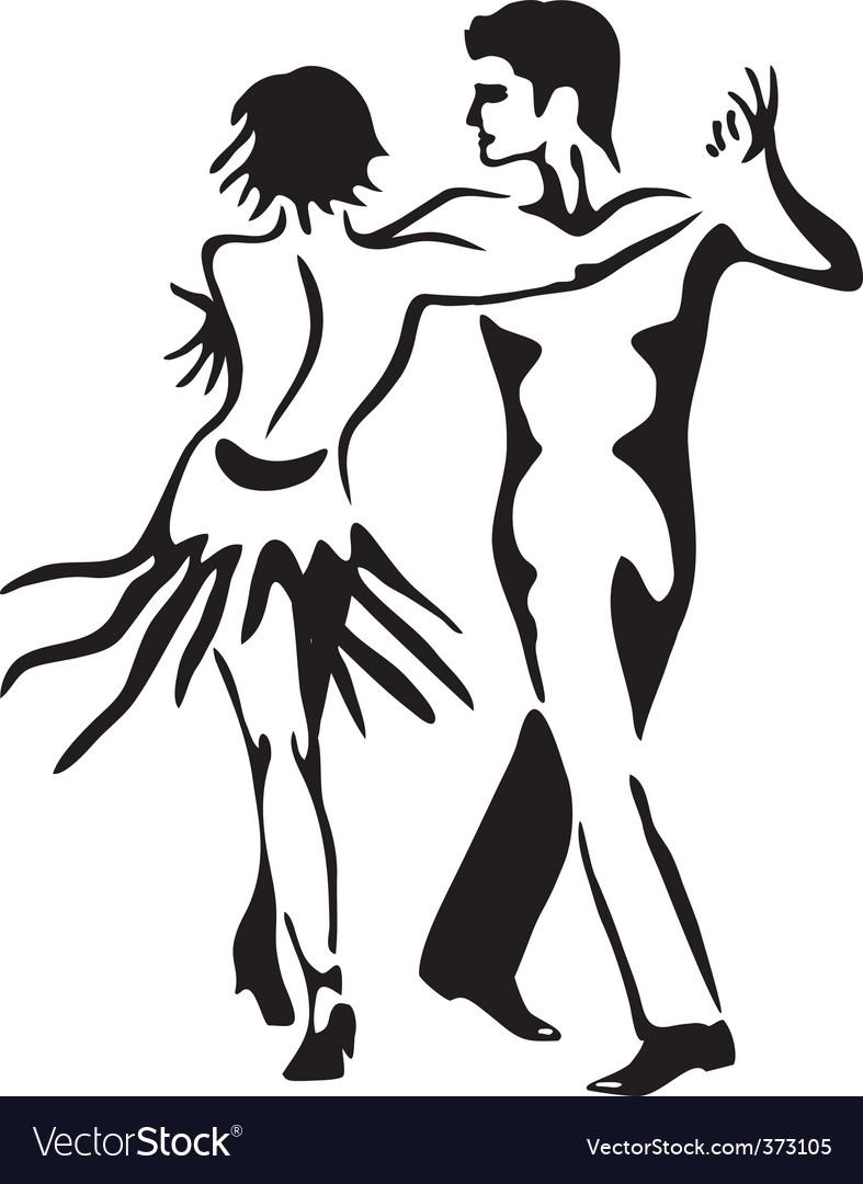 Latin dance rumba dancing couple vector image