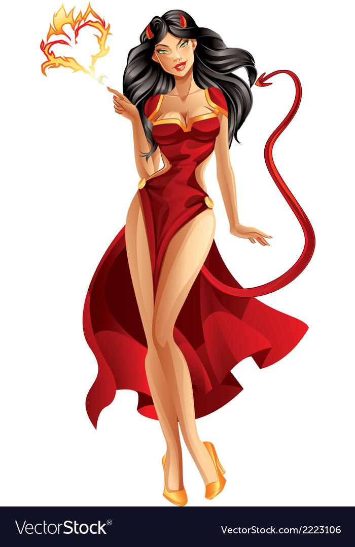 Devil Woman vector image