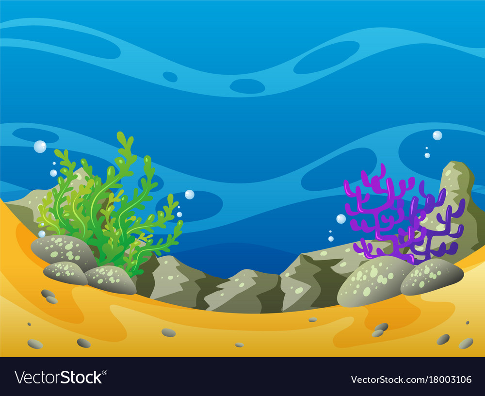 Ocean scene with coral reef and rocks royalty free vector ocean scene with coral reef and rocks vector image voltagebd Gallery