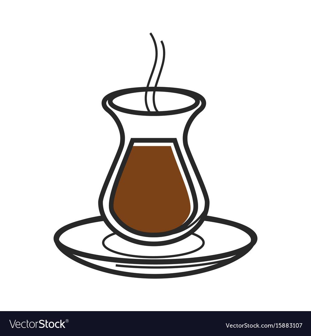 Turkish coffee symbols coffee drinker turkish tea coffee gl symbol of turkey culture vector image buycottarizona Image collections