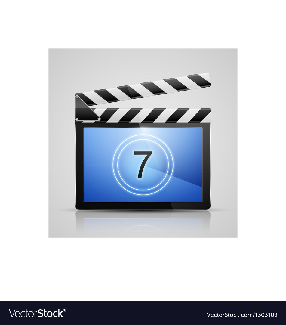 Movie player icon vector image