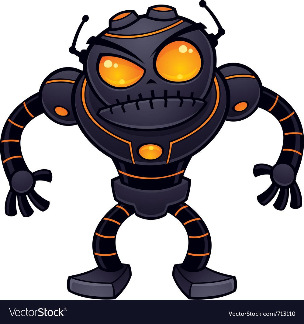Angry robot vector image