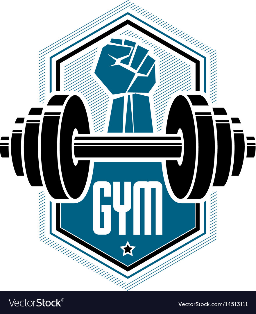 Logotype for heavyweight gym or fitness sport vector image