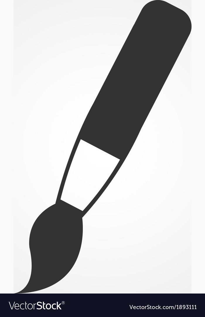 Paint brush icon flat design vector image