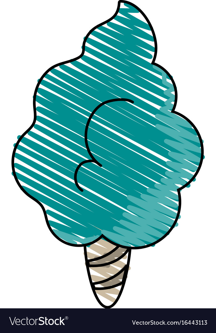 Delicious cotton candy icon imag vector image