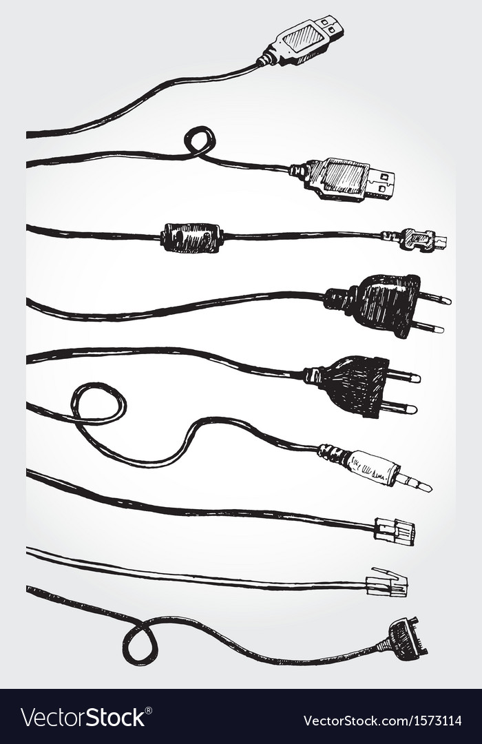 Cables vector image