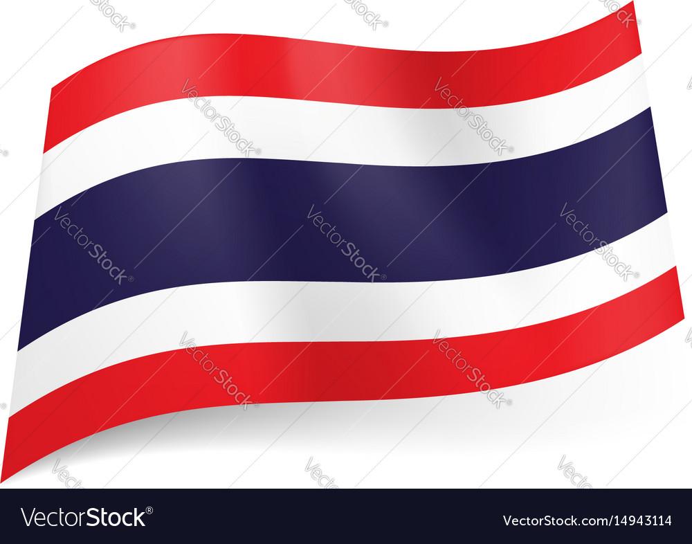 National flag of thailand wide blue stripe vector image