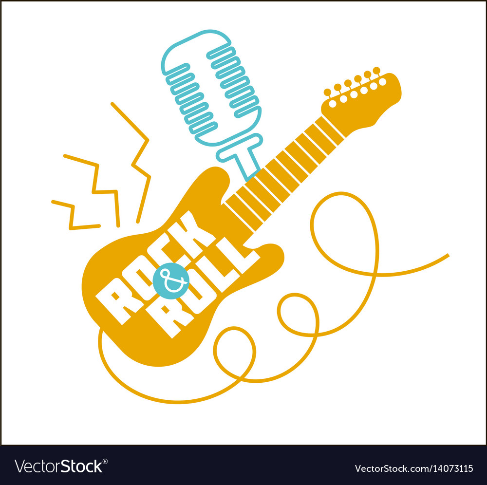 Icon rock-n-roll day vector image