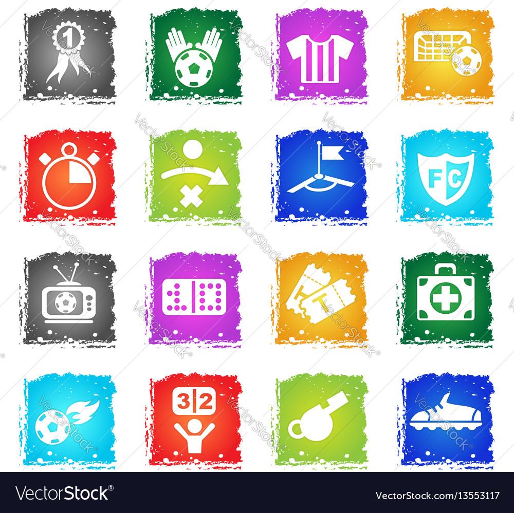 Football icon set vector image