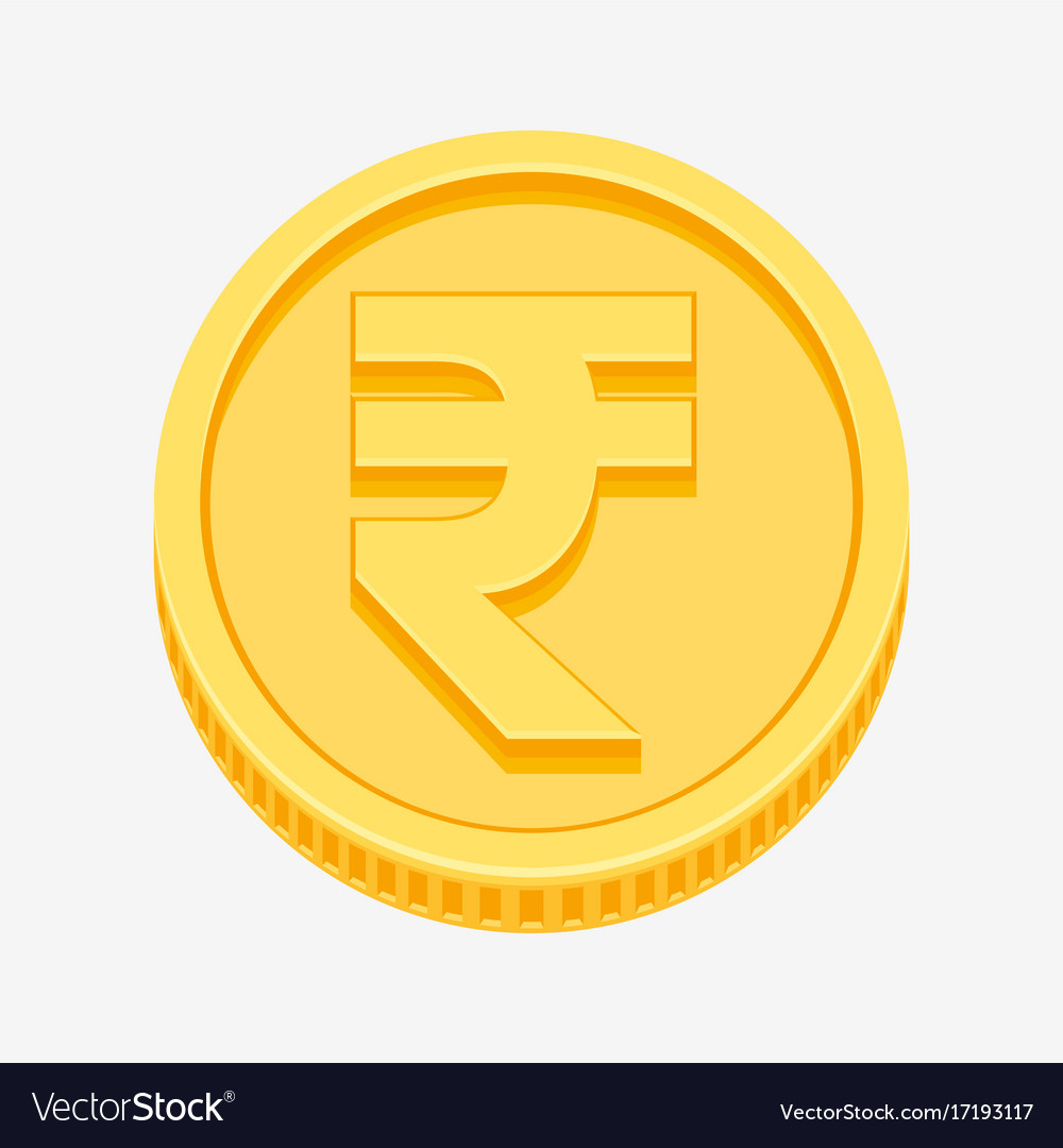 Indian rupees symbol on gold coin royalty free vector image indian rupees symbol on gold coin vector image biocorpaavc