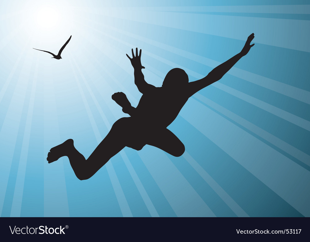 Man flying vector image