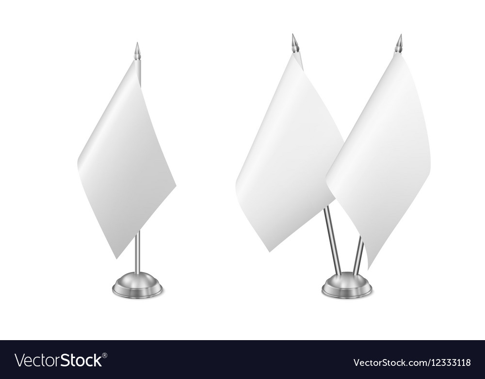 Small table flag set isolated on white vector image