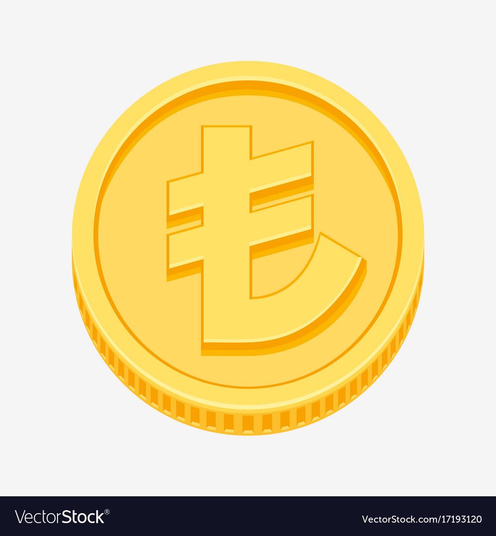 Turkish lira currency symbol on gold coin vector image turkish lira currency symbol on gold coin vector image buycottarizona