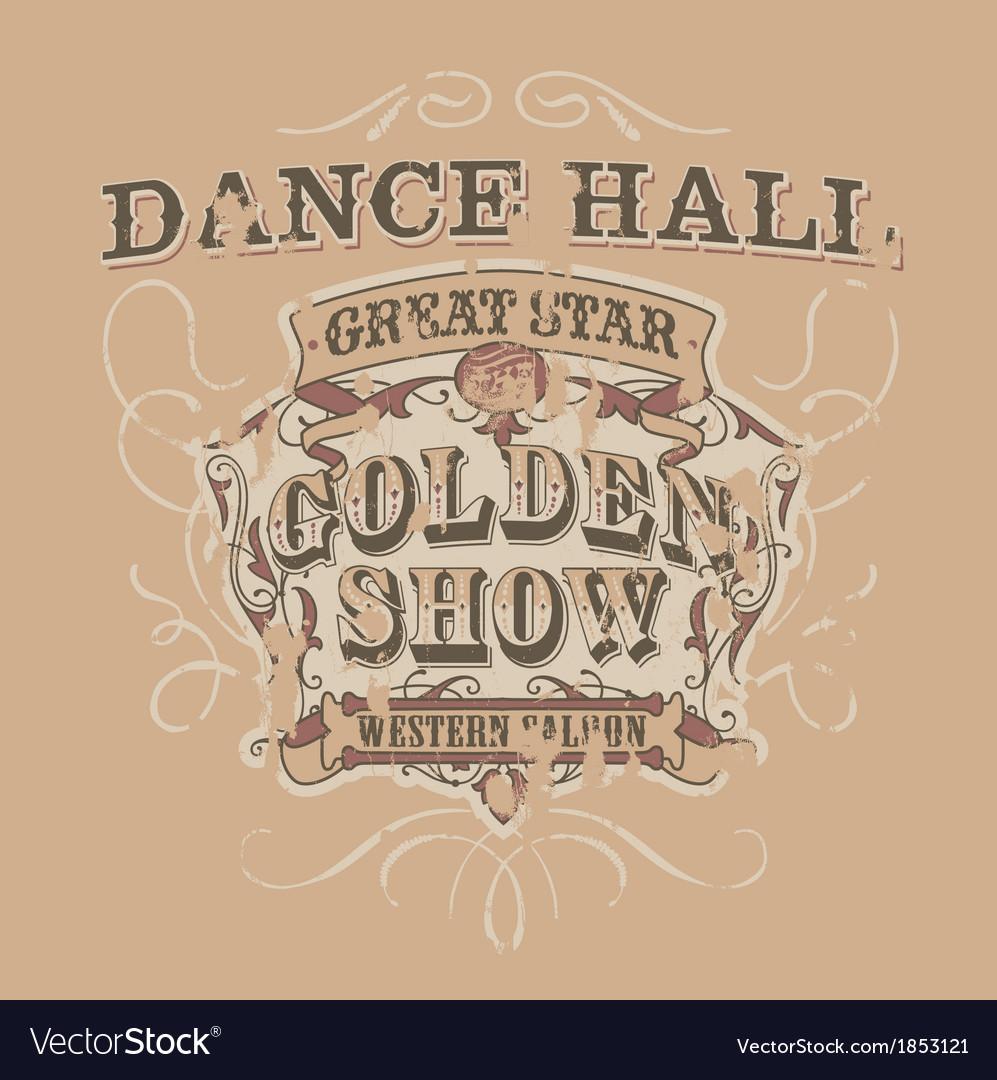 Dance saloon vector image