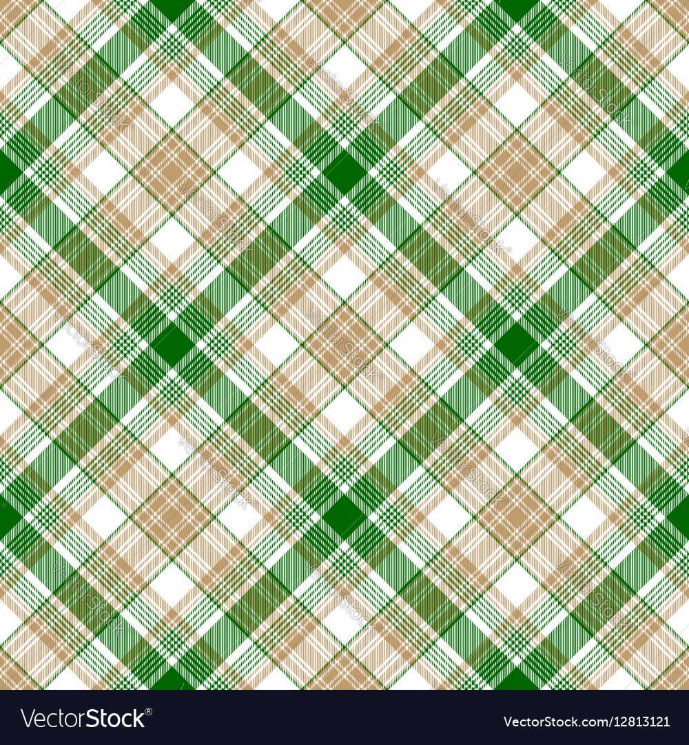 Green white beige fabric texture seamless pattern vector image
