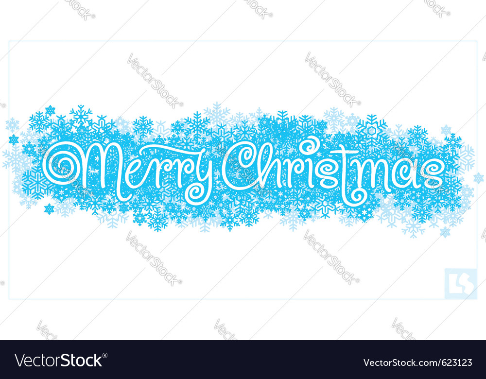 Merry christmas hand lettering vector image