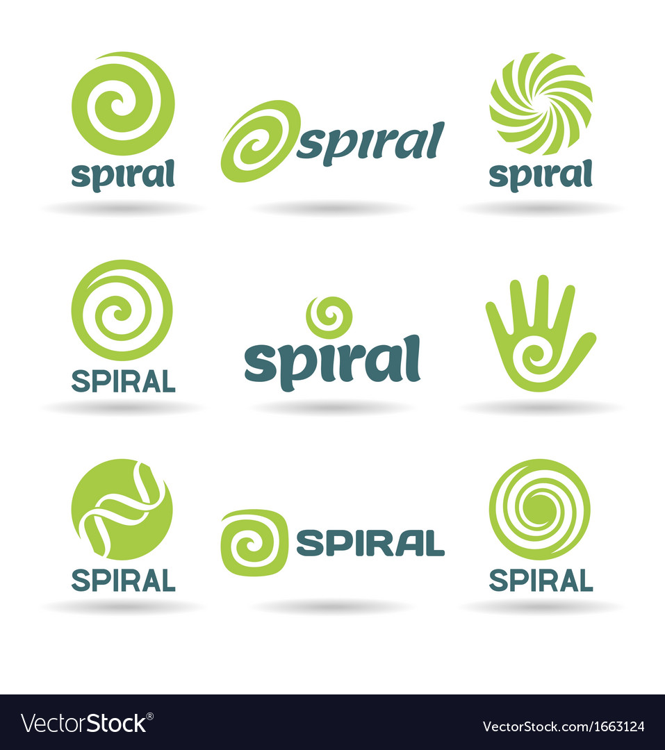 Set of spirals vector image