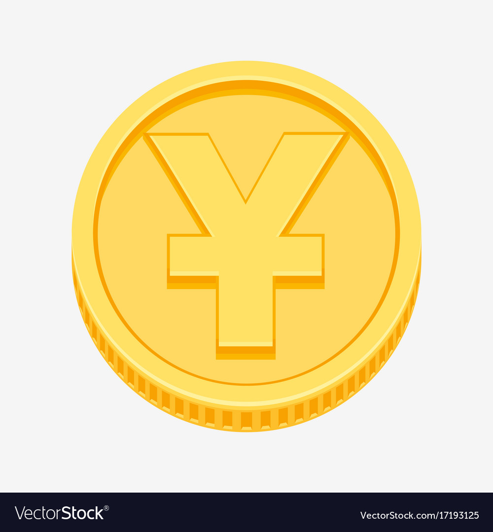 Chinese yuan or japanese yen symbol on gold coin vector image biocorpaavc Choice Image