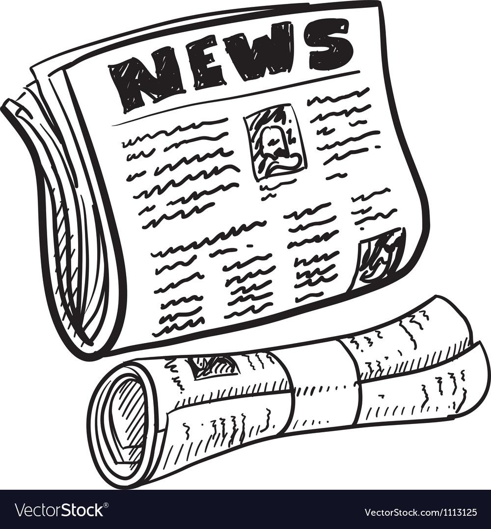 Doodle newspaper vector image