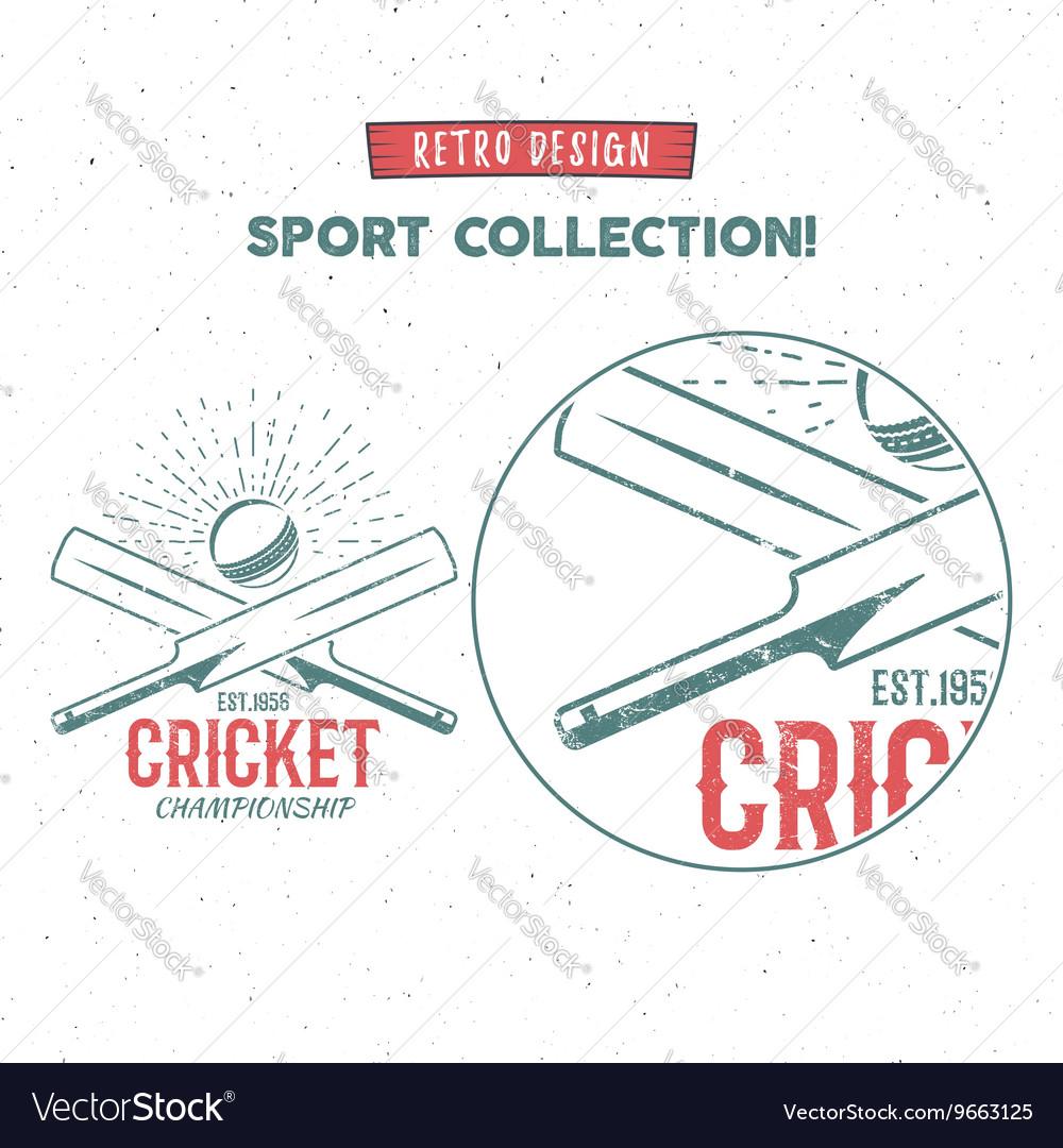 Retro cricket logo icon design vintage royalty free vector retro cricket logo icon design vintage vector image biocorpaavc