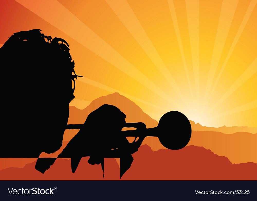 Trumpet player vector image