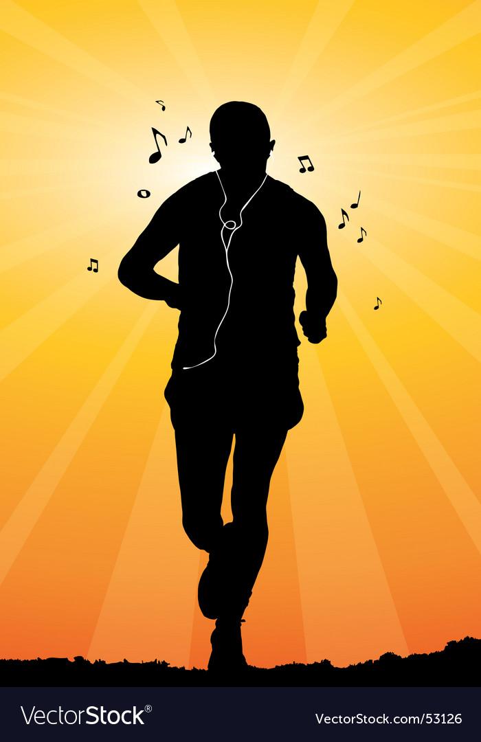 Man jogging vector image
