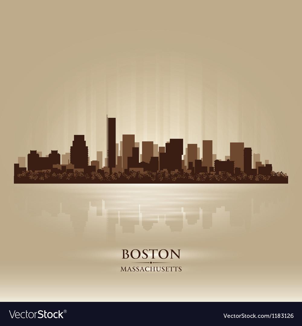 Boston Massachusetts skyline city silhouette vector image