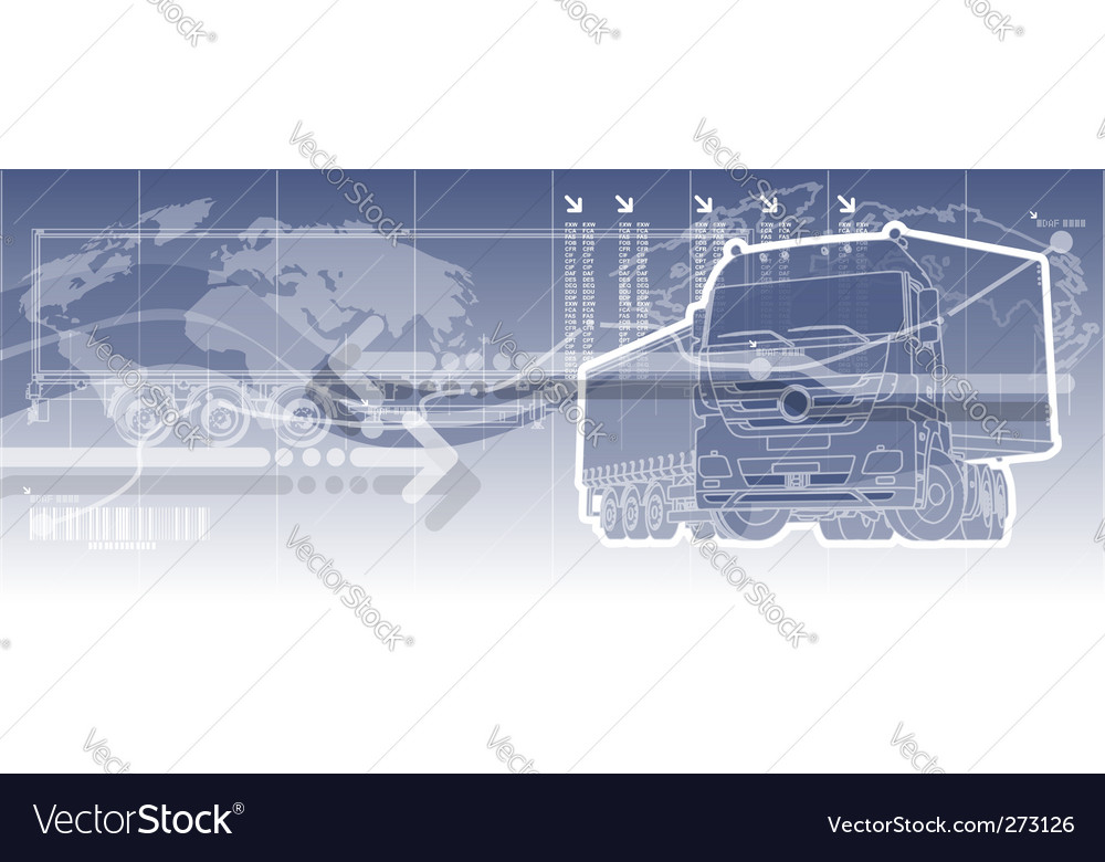 Logistics theme background vector image