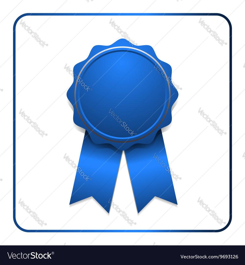 Ribbon award icon blue vector image