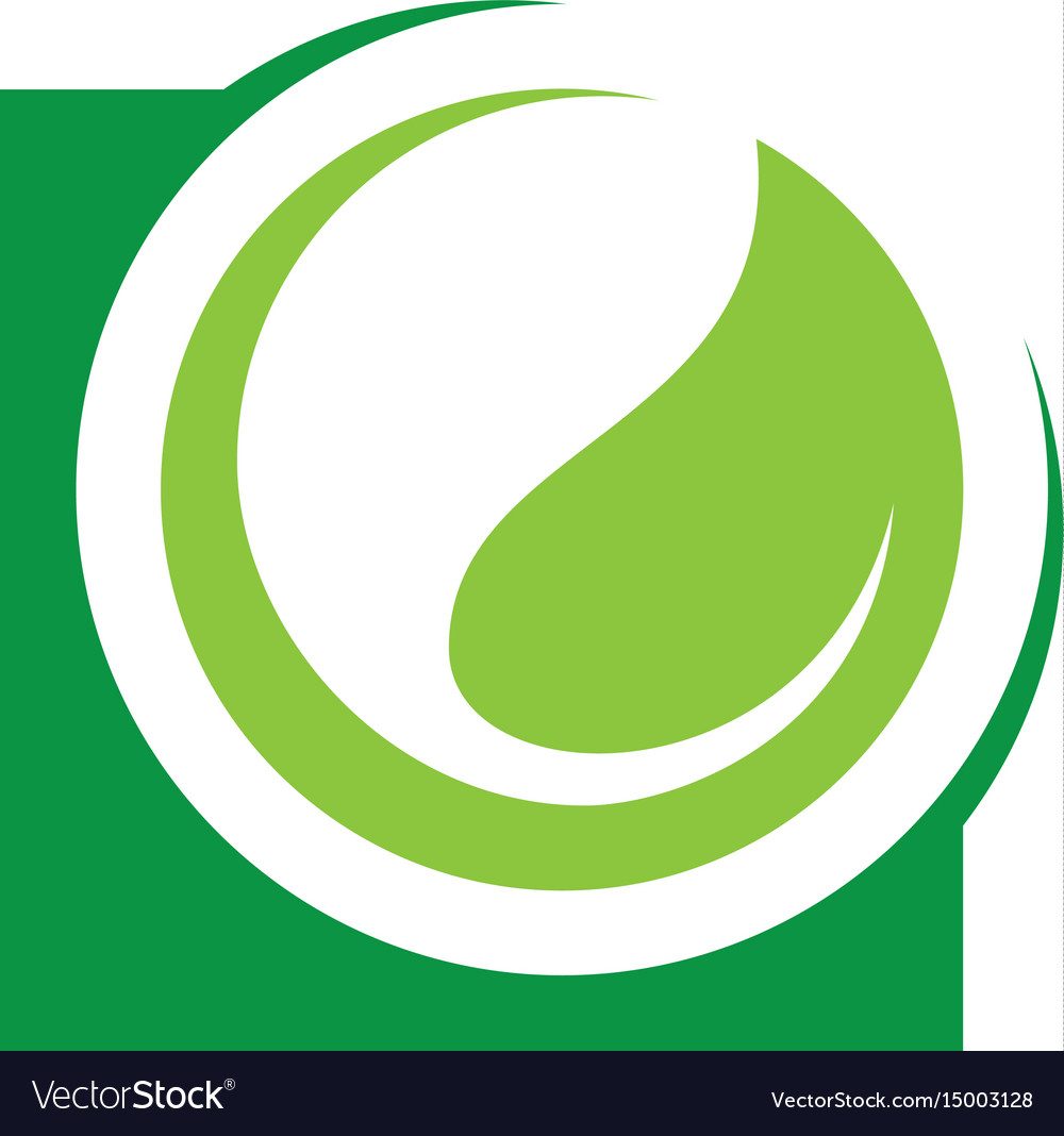 Abstract circle leaf logo image vector image