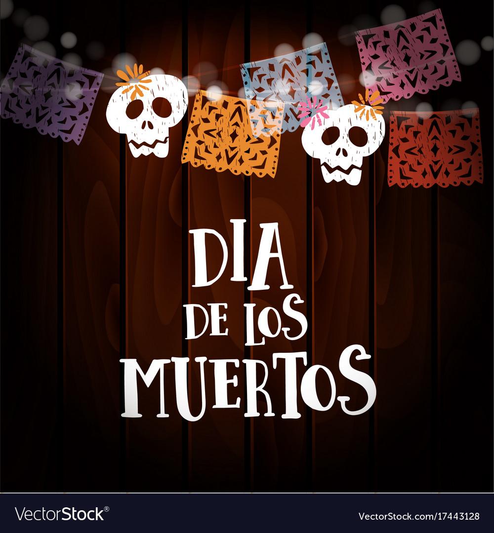 Dia de los muertos day of the dead or halloween vector image