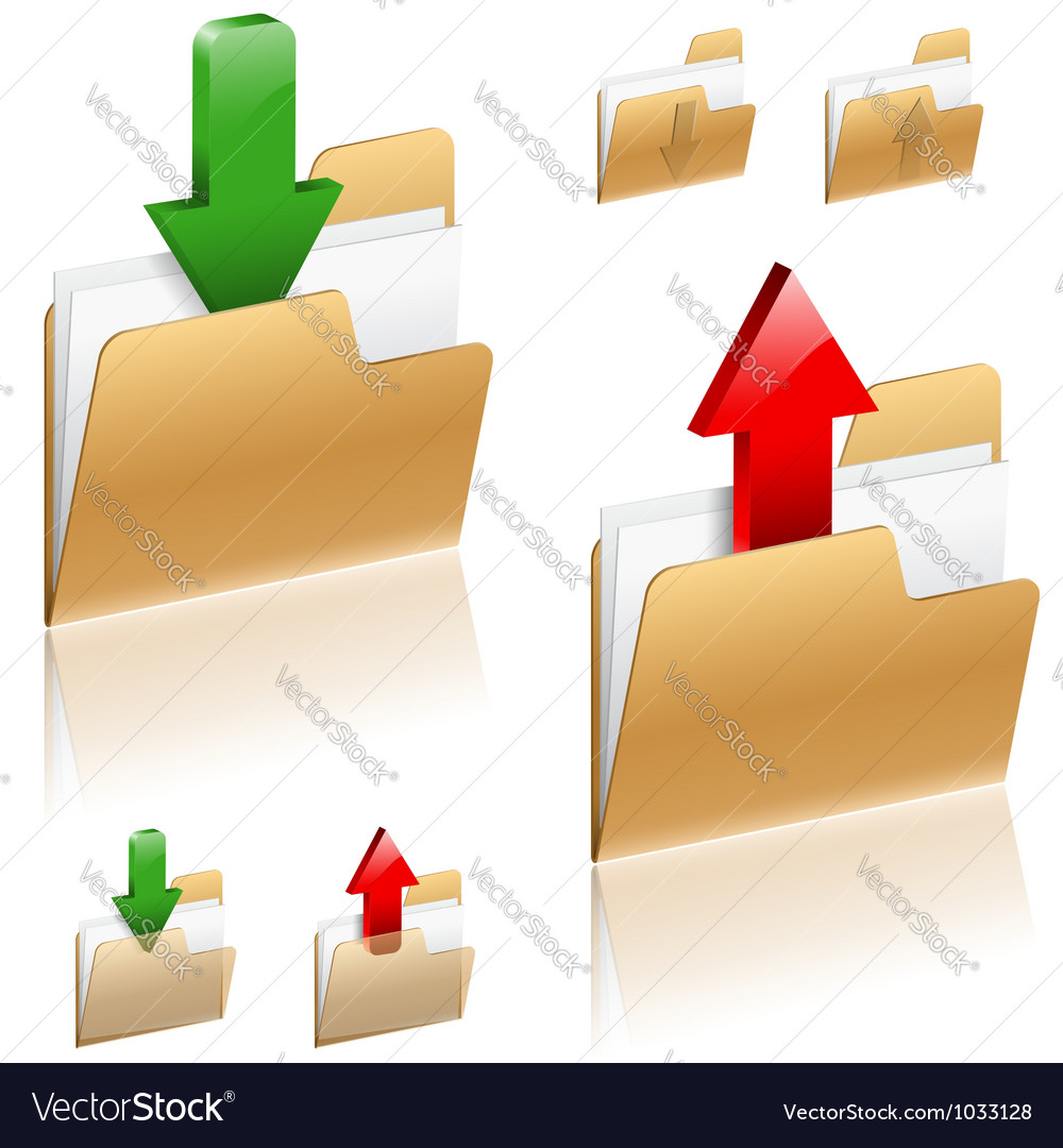 Download and Upload Concept vector image
