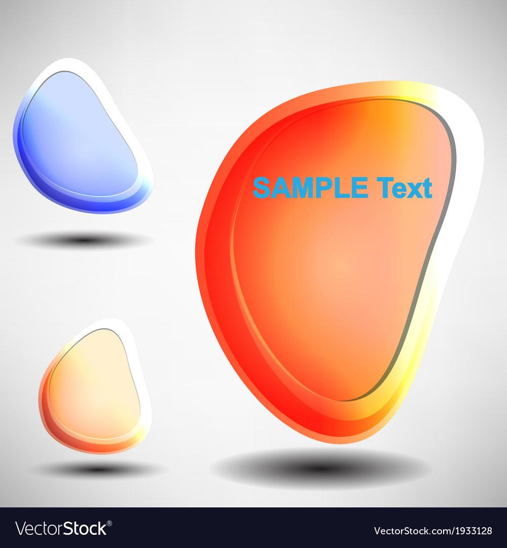Shiny bubbles for speech editable vector image