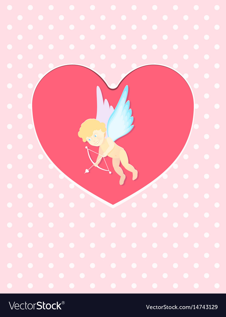 A valentines day cupid ready to vector image