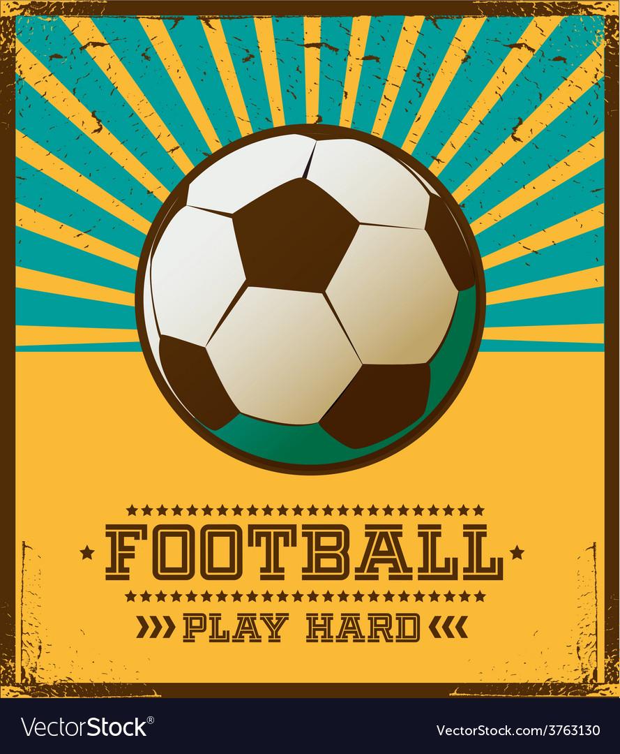 Poster design for free - Soccer Poster Design Vector Image