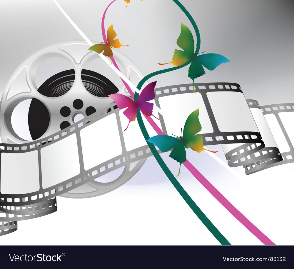 Movie reel background vector image