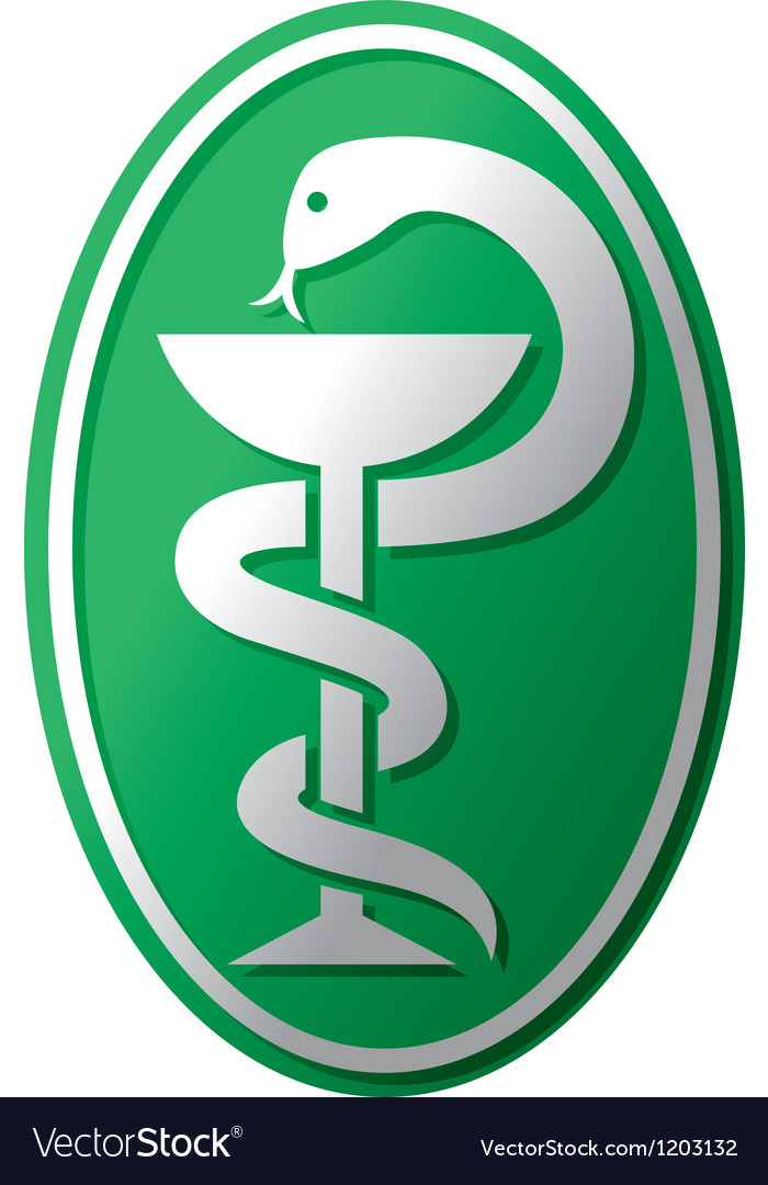 Snake-medical symbol vector image